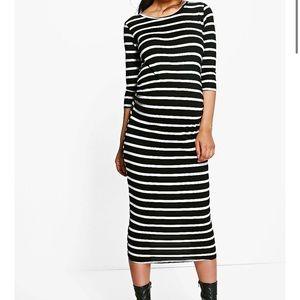NWT Boohoo 'Maternity' Striped Dress